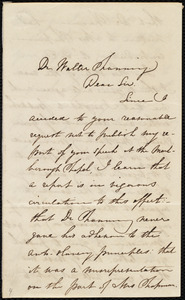Letter from Maria Weston Chapman to Walter Channing
