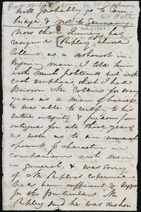 Fragment of letter from Maria Weston Chapman, [1848?]