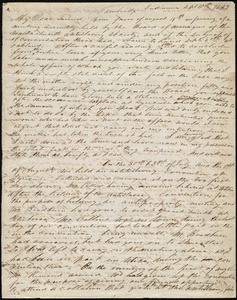 Letter from Frederick Douglass, Cambridge, Indiana, to Maria Weston Chapman, Sept. 10th, 1843