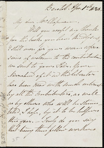 Letter from Mary Carpenter, Bristol, [England], to Maria Weston Chapman, Mar. 1st, 1846