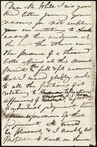 Draft of letter from Maria Weston Chapman to William Abijah White, [Jan. 1847?]