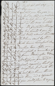 Letter from Mary Carpenter, Bristol, [England], to Maria Weston Chapman, Oct. 31st, 1847