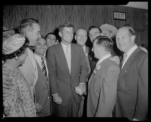 JFK on convention floor in Chicago