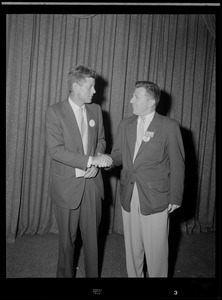 JFK at Chicago for the Democratic National Convention
