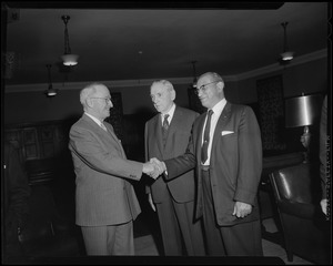 Curley & Truman at Gov. Furcolo's breakfast at the University Club for Harry Truman