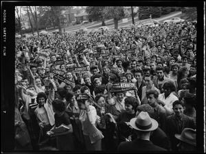 Campaign rally for JFK during Senate race