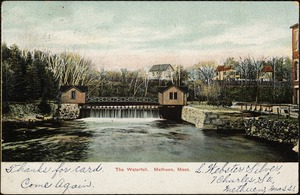 The waterfall, Methuen, Mass.