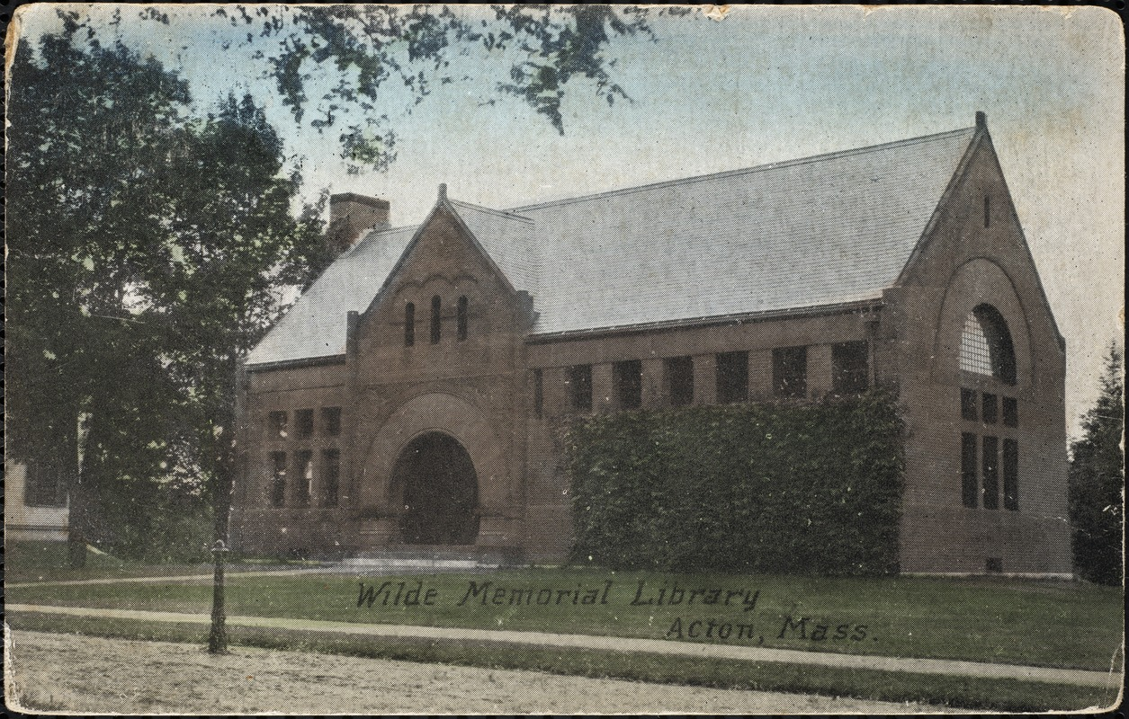 Wilde Memorial Library, Acton, Mass.