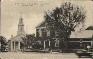 Baptist church and Memorial Hall Library, Andover, Mass.