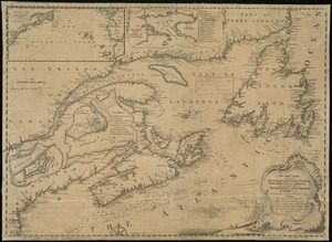 A new chart of the coast of New England, Nova Scotia, New France or Canada, with the islands of Newfoundld. Cape Breton St. John's &c