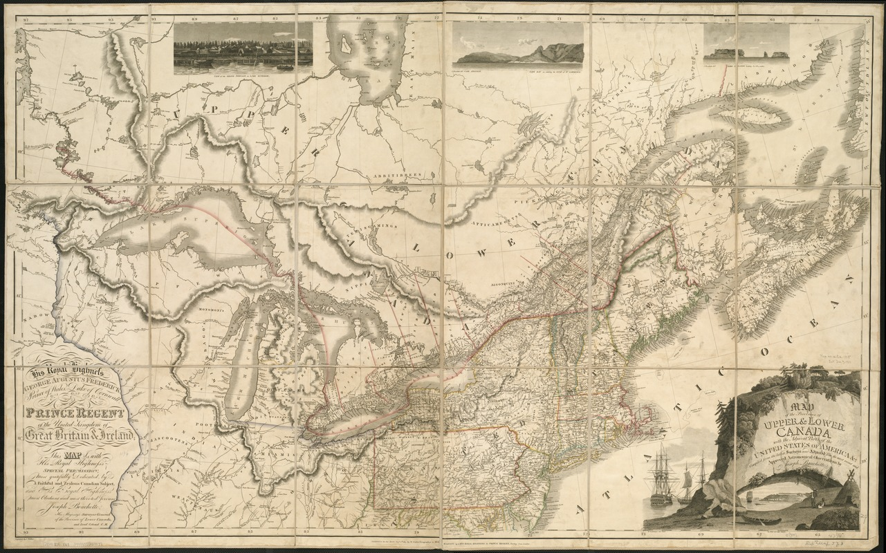 Map of the provinces of upper & lower Canada with the adjacent parts of the United States of America, &c