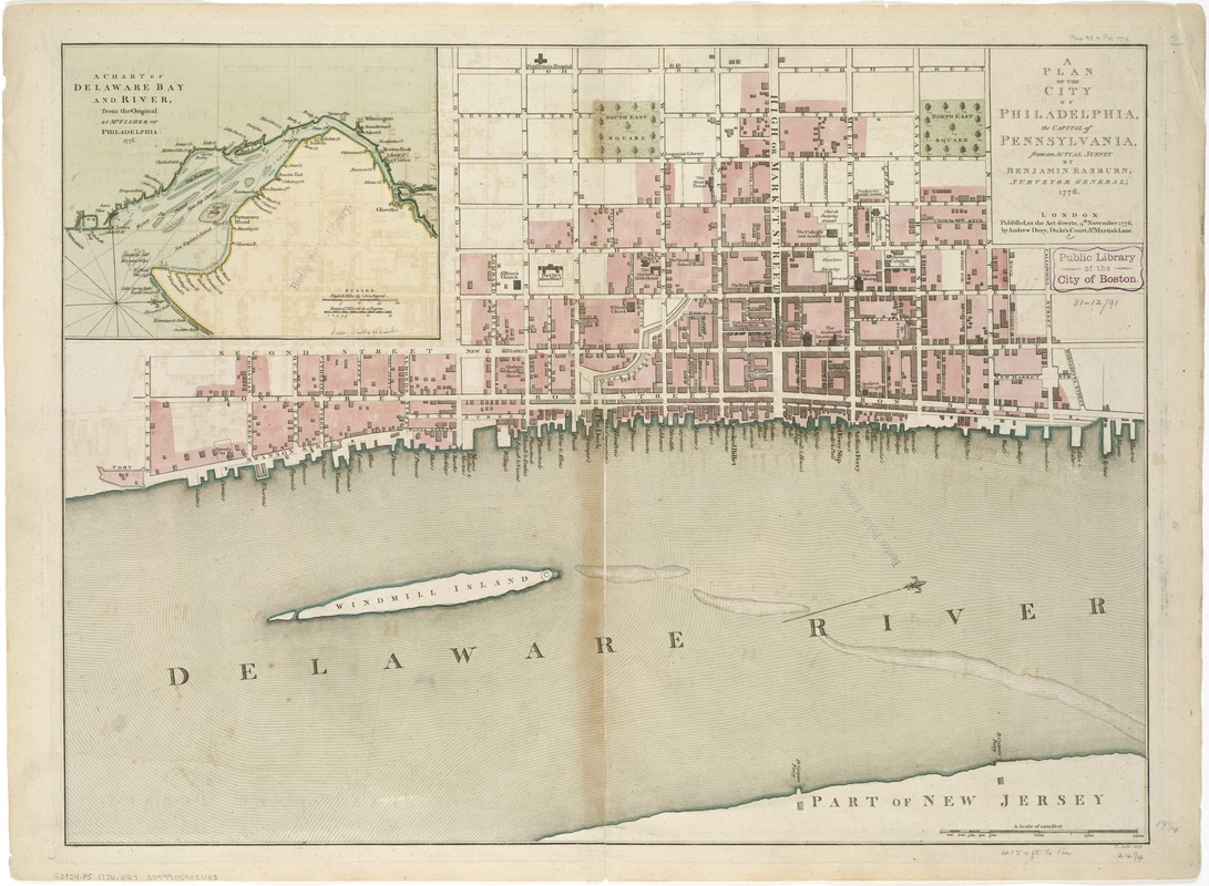 A plan of the city of Philadelphia, the capital of Pennsylvania, from an actual survey