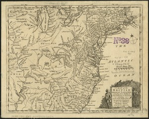 A Map of the British American plantations, extending from Boston in New England to Georgia