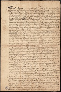 "Deed of land from John Devotion to Benjamin White, John and William ""Acres"""
