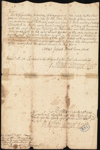 Memorandum of a vote by the town upon a deed
