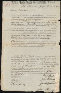 Indenture of John Marean [Mareau?] to Caleb Clark