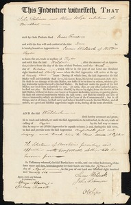 Indenture of Isaac Thompson to James Waldock, tailor