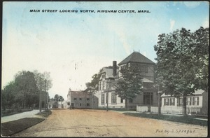Main Street looking north, Hingham Center, Mass.