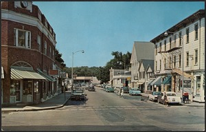 Views of Hingham's shopping district from South Street, Hingham, Mass.
