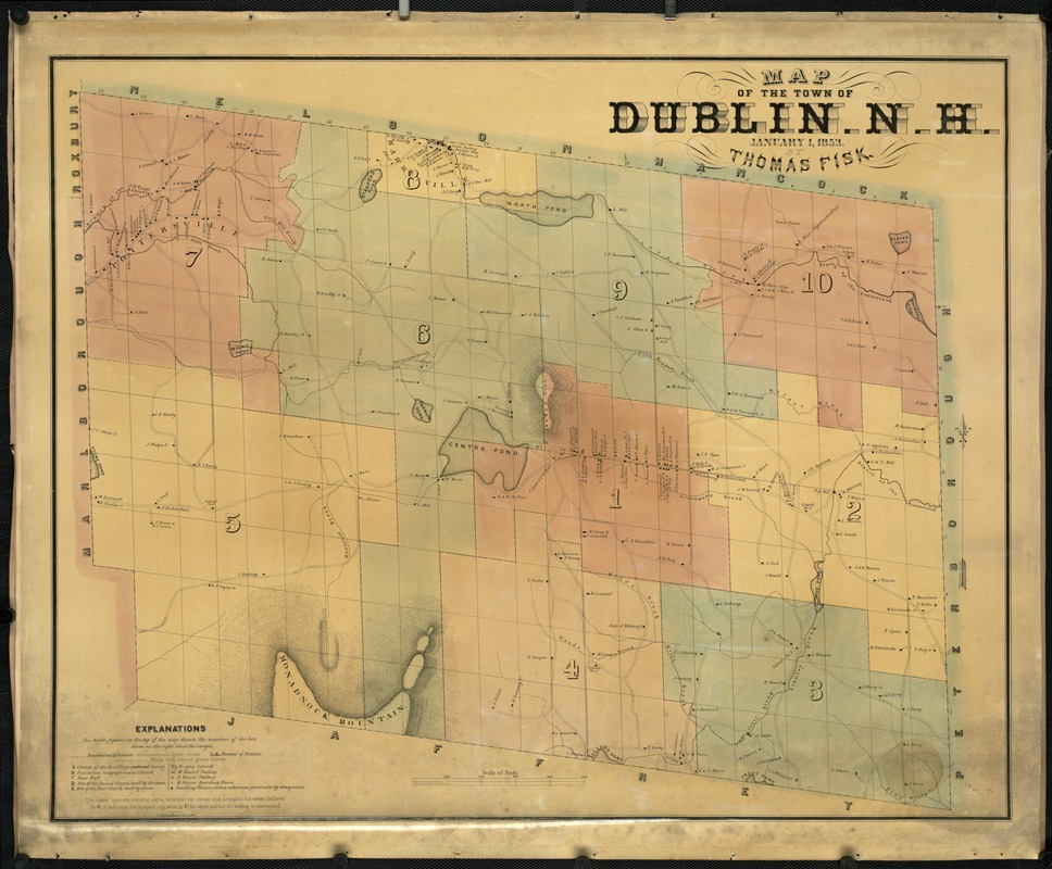 Map of the town of Dublin, N.H