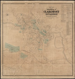 Map of the village of Claremont, New Hampshire