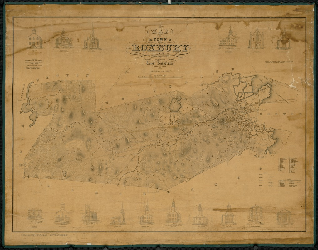 Map of the town of Roxbury