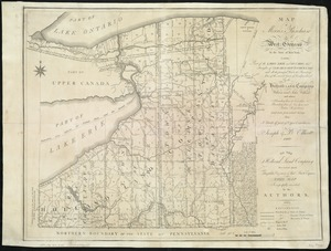 Map of Morris's Purchase or West Geneseo in the state of New York