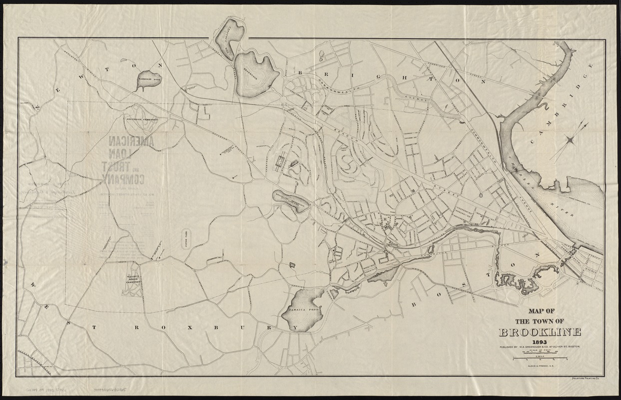 Map of the town of Brookline