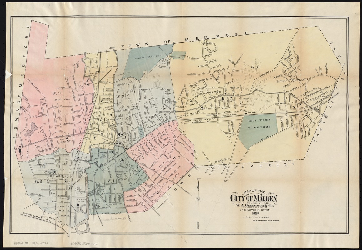Map of the city of Malden Digital Commonwealth