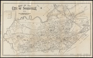 Map of the city of Somerville 1895