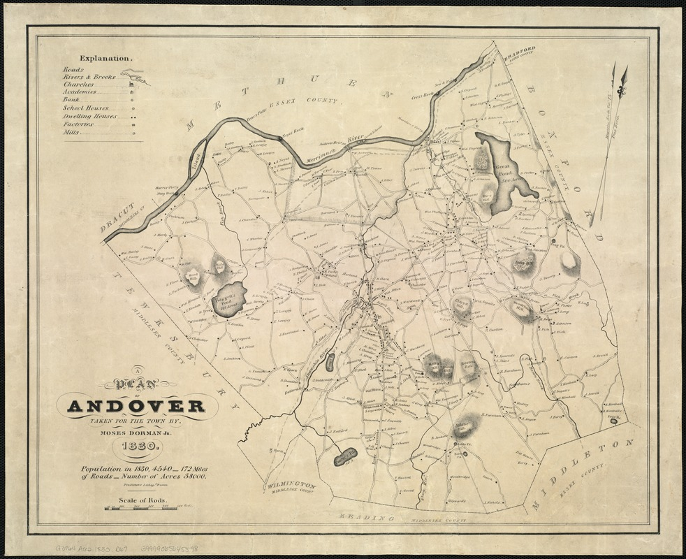 A plan of Andover taken for the town