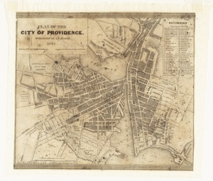 Plan of the city of Providence