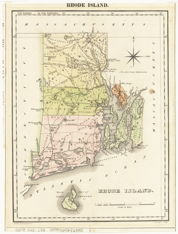 Geographical, statistical, and historical map of Rhode Island