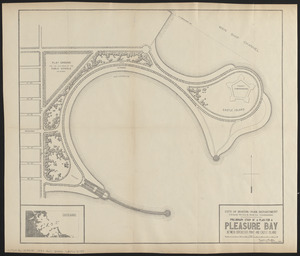 Preliminary study of a plan for a Pleasure Bay between Dorchester Point and Castle Island