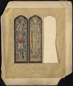 Design for the window of the Resurrection, Saint John the Evangelist Church, Beverly Farms