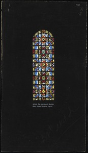 Design for typical aisle windows, Mass. General Hospital Chapel