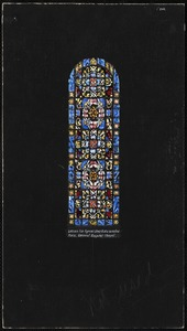 Design for typical clerestory windows, Mass. General Hospital Chapel