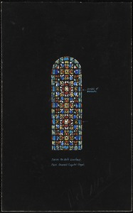 Design for aisle windows, Mass. General Hospital Chapel, symbol of beatitudes