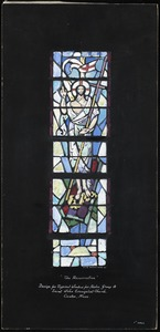 """The Resurrection"", design for typical window for aisles. Group A. Saint John Evangelist Church, Canton, Mass."