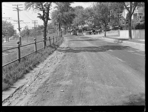 Distribution Department, Southern High Service Pipe Lines, Section 47, east of Waban Hill Road, Commonwealth Avenue, preliminary street surface view, Newton, Mass., May 20, 1918