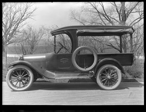 Distribution Department, MWW No. 3, truck; driver side view; at Chestnut Hill Pumping Stations, Brighton, Mass., May 5, 1920