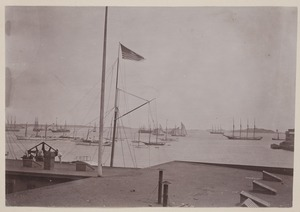 Photograph Album of the Newell Family of Newton, Massachusetts - View from Rear Windows of The Geo. F. Newell Mfg. Co. -