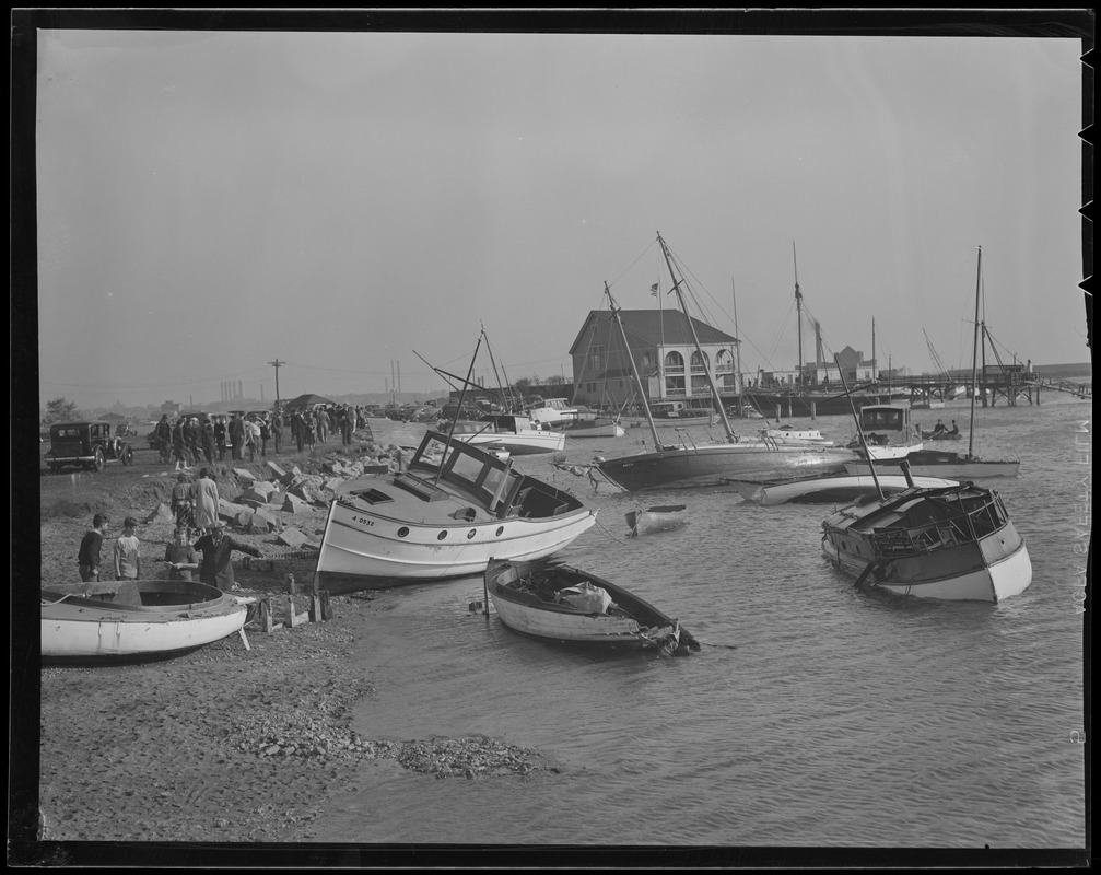 content boats ashore at savin hill yacht club, dorchester, hurricane of 38  at alyssarenee.co
