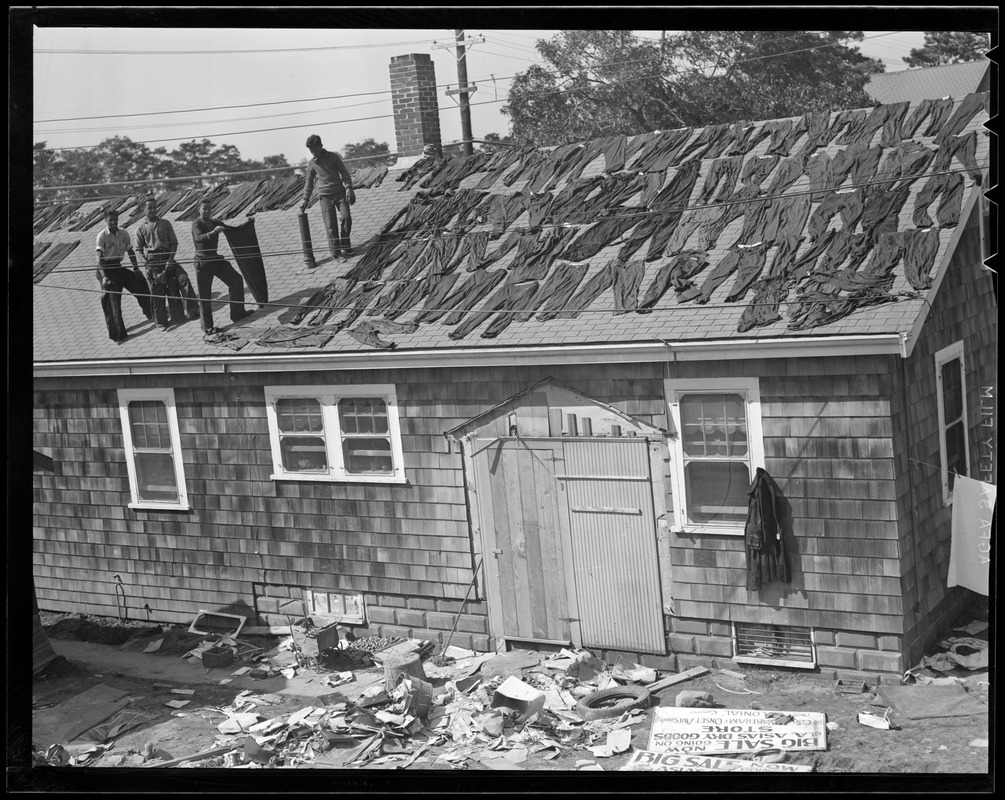 Drying out clothes after Hurricane of 38