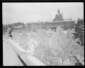 State House, snow covered