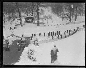 Winter scene in front of State House