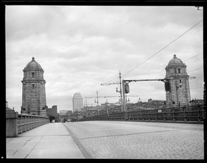 Roadway and towers, Longfellow Bridge