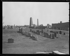 Cemetery in Charlestown with John Harvard's grave