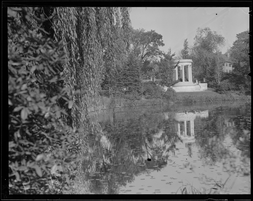 Mary Baker Eddy, pond and willows