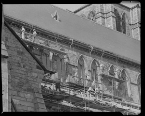 Cathedral of the Holy Cross, South End, being cleaned